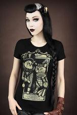 Restyle T-Shirt Vintage Katze Victorian Cat Dark Steampunk Gothic Lolita RS17