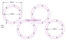 FORNELLI cottura Fornello Comporre Manopola numeri adesivi con a sinistra di fronte a zero