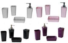 Fingey 4 pezzi bagno in plastica Set accessori bagno design moderno 4 COLORI