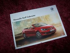 Catalogue / Brochure VOLKSWAGEN Golf Cabriolet 2011 //