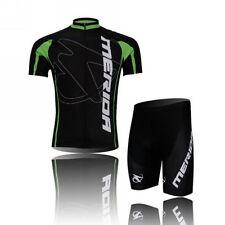 Merida Cycling Jersey Set Bicycle Top / Shirt & Bike Padded Shorts / Short Pants