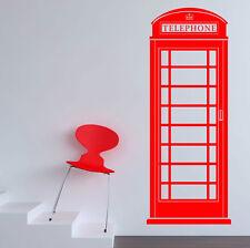 Telefono Box Adesivo Parete Vinile Arte Grande Grafica Decalcomania chiamata DECO PAYPHONE