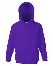 FOTL Kids Hoodie SS273 Fruit of the Loom Childs Kids Sweatshirt Purple