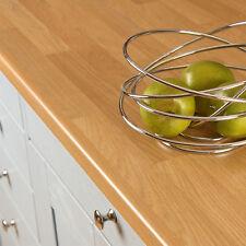 Oak Block Laminate Kitchen Worktops 38mm, Wood Worktop Effect, Edging Included