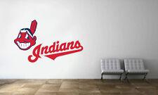 Cleveland Indians Logo Wall Decal MLB Baseball Decor Sport Mural Vinyl Sticker