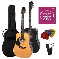 Band u mit 3xPik//Plektren!22 Gitarre,4//4Set// Zubehör,Tasche mit ersatz Saiten