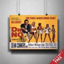 JAMES BOND DR NO Poster A3 / A4 Sean Connery Classic Movie Art Print Home Decor