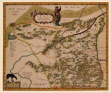 Old China Map - Shaanxi Province - Blaeu 1655 - 23 x 27.45