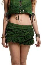 STEAMPUNK SKIRT, pixie skirt, fringe skirt, GEKKO wrap skirt, steampunk clothing