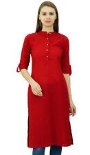 Phagun Cotton Kurti Half Sleeve Tunic Mandarin  Collar Ethnic CasualKurta Blouse
