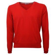 C0528 maglione cachemire uomo KANGRA rosso sweater men