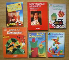Basteln, Anleitungen, Hefte, Papierweben, Wellpappe, Wabenpapier, Schutzengel...