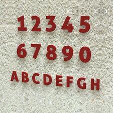 Edle Design Hausnummer - Edelstahl Modern 15 20 30 cm - RAL 3001 signalrot rot