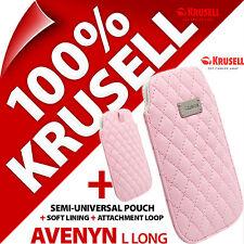 Nouveau Krusell avenyn long doux cuir pu look mobile étui case cover housse slim