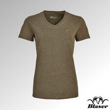Blaser T-Shirt Ladies V Neck Reed Green Melange (118020-006/544)