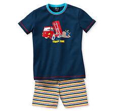SCHIESSER Jungen Schlafanzug Pyjama kurz TRUCK Lastwagen Gr. 98 104 116 128 NEU