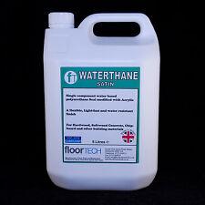 Waterbased Heavy Duty (Commercial) Polyurethane Floor Seal / Varnish - 5 Litres