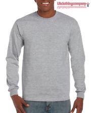 9398ea181d3 Deporte Gris Adulto Gildan Manga Larga Ultra Algodón T-Shirt-Mens Suéter