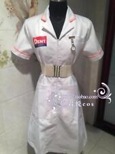 Batman Joker White Nurse Uniform Cosplay Costume Coat V2 Dress Party Halloween