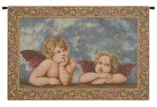"Raffaello's Angels Italian Woven Wall Hanging Tapestry 18 x 24"""