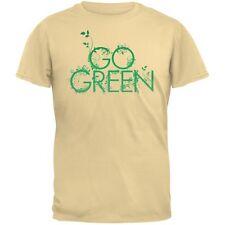 Earth Day - Go Green Adult Organic Yellow T-Shirt