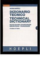 DIZIONARIO TECNICO (TECHNICAL DICTIONARY) - GIORGIO MAROLLI - con TAVOLE   (n22)