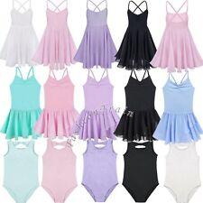 Girls Kids Gymnastics Ballet Dress Toddler Leotard Tutu Skirt Dance wear Clothes