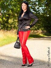 Lederhose Leder Hose Rot Knalleng Größe 32 - 58 XS - XXXL