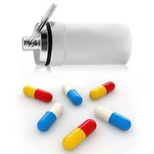 Mini Portable Aluminum Keychain Waterproof Medicine Storage Bottle Pill Box Case