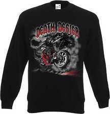 Sweatshirt in schwarz mit einem Biker-,Chopper-&Old Schoolmotiv Modell Death Def