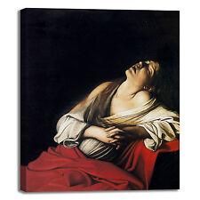 Caravaggio Maria Maddalena estasi quadro stampa tela dipinto telaio arredo casa