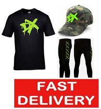 GENERATION DX FANCY DRESS WRESTLING WRESTLER T-SHIRT, PANTS & COMBAT PATTERN CAP