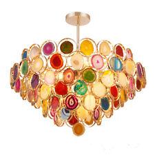Modern Agate Stone Chandelier Pendant Light Dining Room Mid Century Ceiling Lamp