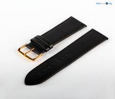 Uhren Lederarmband Schwarz Glattleder Dornschließe 7018813