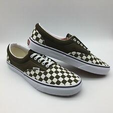 """Vans Men/Women's Shoe's """"Era""""--(Checkerboard) Beech/Trwht"""