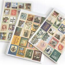 80 Pegatinas de viaje vintage de sello de recortes diario de control Italia Francia Gran Bretaña