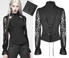 Chemise jacquard brodé gothique lolita baroque soirée dentelle corset PunkRave