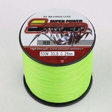 Spider 100M-500M 6LB-300LB Fluorescent Green 100%PE Dyneema Braided Fishing Line