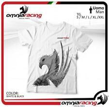Omnia Racing T-Shirt Uomo Bianca in Cotone - Designed in Italy - Moto Underwear