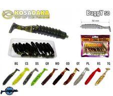 10 leurres souples Buggy 50 KOSADAKA 50mm pêche rockfishing streetfishing perche