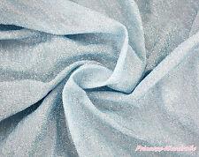 Princess Elsa Light Blue Bling Sparkle Home Deco Crafting Sew Fabric Cloth 1Yard