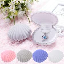 Shell Shape Velvet Display Gift Box Jewelry Case For Ring Necklace Earrings