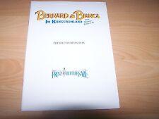 BERNHARD & BIANCA IM KÄNGURUHLAND - Presseheft ´89 + PRINZ UND DER BETTELKNABE