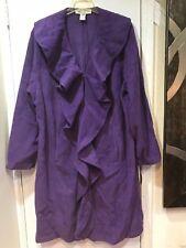 Women's Church Winter fall fleece Ruffle light plum Jacket plus tag 1X& fit 2X3X