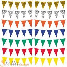 10m Colour Giant Triangular Bunting Fete Party Flag Decoration 45cm x 30cm