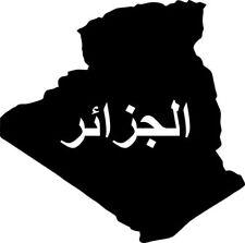 """2x Autocollant de voiture """" Algérie """" Sticker ca. 11 cm découpé"""