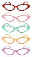 1 or 2 Pair Cat Eye Jelly Color Frame Full Lens (NOT Bifocal) Reading Glasses