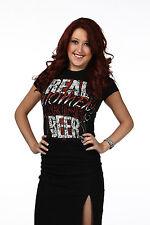 "Official TNA Impact Wrestling James Storm ""Real Women Drink Beer"" Ladies T-Shirt"