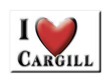 SOUVENIR UK - SCOTLAND FRIDGE MAGNET I LOVE CARGILL (PERTH AND KINROSS)
