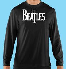Long Sleeve Tee Black, Concert, Classic Rock Music, Beatles, Gildan 100% Cotton